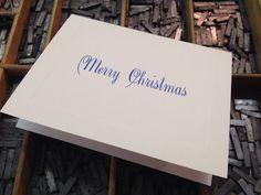 Letterpress Christmas Cards Merry Christmas  by oldtimeprintshop