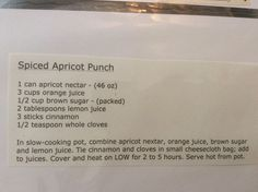 Spiced Apricot Punch