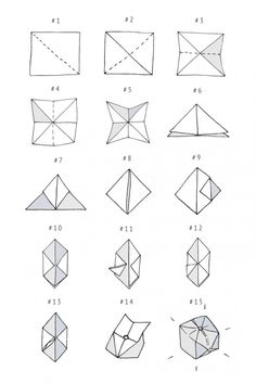 DIY origami light garland