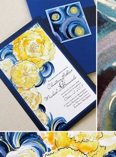 van gogh inspired weddings - could Ben do something similar but with Navy, grey, and wine colors?