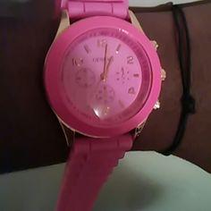 Watch Geneva watch with rubber band Geneva  Accessories Watches