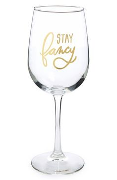 EASY,+TIGER+'Stay+Fancy'+Wine+Glass+available+at+#Nordstrom