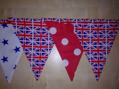 Union Jack Fabric Bunting  celebrate this Summer in style by MollyFelicityDesigns, £10.00