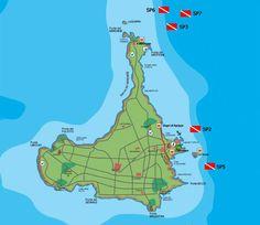 Cartina punti di immersione all'Isola di Pianosa