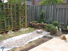 More pics for the Zen garden. Notice this trellis in the background. That would look great, too.