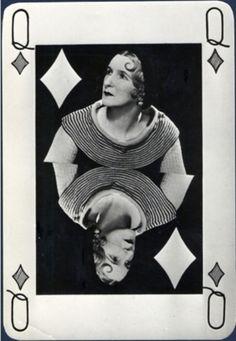 Man Ray - Valentine Hugo as Queen of Diamonds, 1935