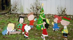 Peanuts Wooden Yard Art Patterns