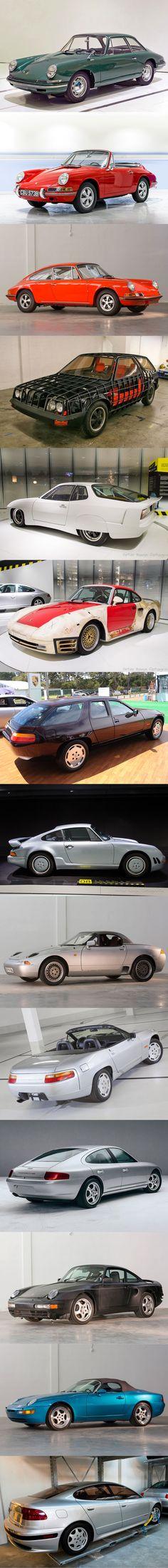 Secret Porsche / 1959 754 / 1964 901 Cabriolet / 1970 915 / 1973 FLA / 1976 924 World Record / 1982 959 C29 / 1984 928 H50 / 911 E19 / 1985 984 Junior / 1987 928 Cabriolet / 1988 989 / 969 / 1992 932 Panamera II / Germany / concept / prototype