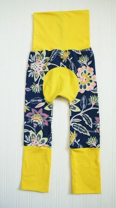 Baby's Maxaloones Grow With Me Pants.  Size 6 months to 3 years. Brilliant floral pattern on navy background.  Ready to ship. by RosenLilyCreationz on Etsy https://www.etsy.com/listing/291088735/babys-maxaloones-grow-with-me-pants-size