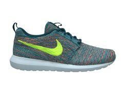 hot sale online b504f f3cb4 Nike Flyknit Roshe run Light Blue Orange Roshes Shoes Women