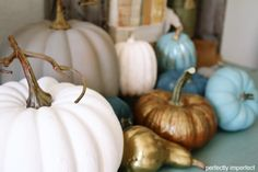 Chalk paint pumpkins! I want to do this :) @Perfectly Imperfect (Shaunna West)