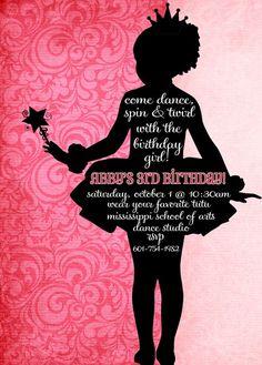 Ballerina party  invite
