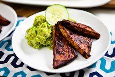 Avo-Pesto Cucumber Salad with BBQ Tofu Cutlets and Corn on the Cob » Keepin' It Kind Keepin' It Kind
