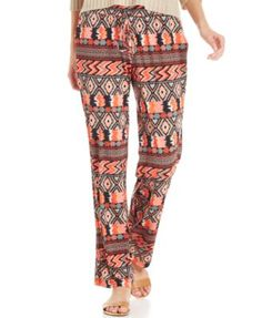 Ny Collection Printed Straight-Leg Soft Pants