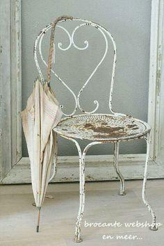sweet Vintage chair & umbrella.