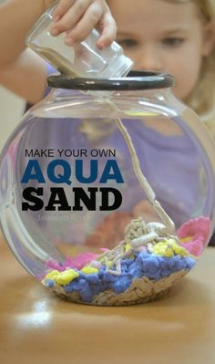 How cool is this?! Learn how to make this awesome craft at home with sand, fabric protector and wax paper. Then, take a stab at making underwater sculptures & castles!