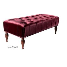 Vintage Burgundy Bench Red Exclusive Jennifer Taylor La Rosa Bench  Elegant Home #VintageElegant