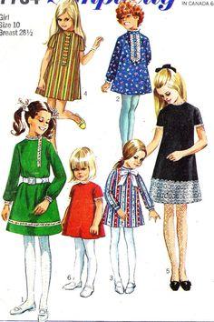 1960s Girls A Line Dress: My Jam!