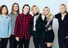 Looks like the boys are all jealous of Rydel's hair so they're trying to be like her...
