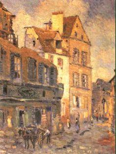 Robert Antoine Pinchon - Attelage dans la rue du village