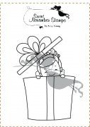 Sweet November Fairwee Piper's Surprise Rubber Stamp