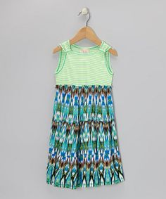 Take a look at this Lime Stripe Ikat Dress - Toddler & Girls by Pink Vanilla on #zulily today!