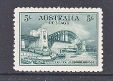 """Five bob"" Bridge, issued in 1932, only 72,800 sold"