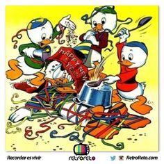 Hugo, Paco y Luis le desean feliz año al Pato Donald  → http://www.RetroReto.com