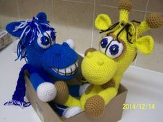 Horse and Giraffe - crochet pattern by Lovely Baby Gift