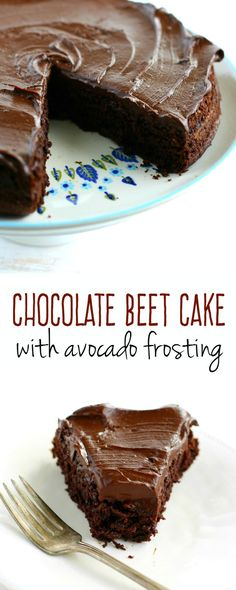 Chocolate beet cake with chocolate avocado frosting is not only incredibly…