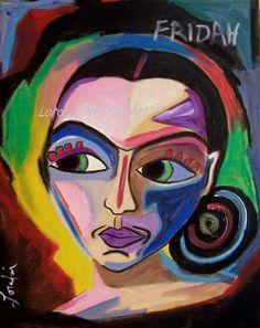 Original Painting Frida Kahlo Art by Loralai by LoralaiOriginalArt, $9.00