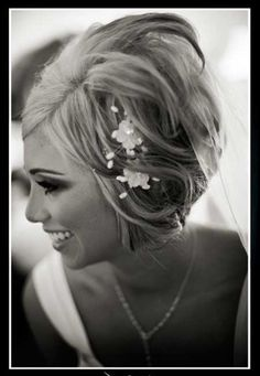 Short Hair Bridal Styles
