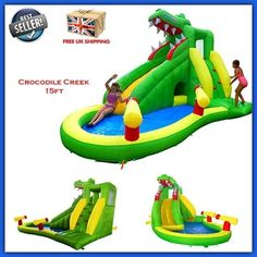 Inflatable Kid Water Slide Spray Park Child Commercial Bouncy Castle Play Centre