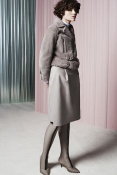 Acne Studios Pre-fall 2014-15...I love the combination of the textures and the striped thights!