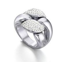 52ace9869e6b Anillo de Plata de 1ª Ley Recubierta de Rodio  joyería  anillo  plata   jewelry  ring  silver