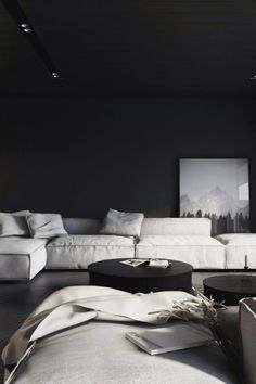 "Here we showcase a a collection of perfectly minimal interior design examples for you to use as inspiration.Check out the previous post in the series: Inspiring Examples Of Minimal Interior Design tml-render-layout=""inline""> Dark Living Rooms, Living Room Interior, Living Room Decor, Interior Shop, Interior Stairs, Interior Design Examples, Interior Design Inspiration, Interior Sketch, Room Inspiration"