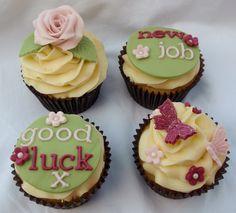 'New Job' cupcakes