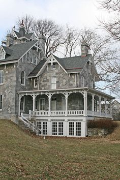Look at that porch. Stone Victorian