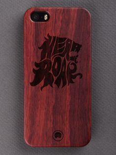 Buy Hear Me Roar Typography Engraved Wooden Smartphone Case Online for Bombay Trooper, Wooden Phone Case, Smartphone, Iphone Cases, Typography, Letterpress, Letterpress Printing, Iphone Case, I Phone Cases