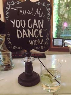 """Trust me, you can dance"" - Vodka"