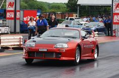 Toyota drag car. More than 2000bhp is possible from the 2JZ engine