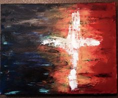 Abstract acrylic cross inspired by a few paintings I've seen.