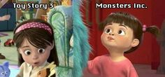 Apparently Disney Pixar workers confirmed this. Mind. Blown. AND... She's playing with a BLUE KITTY!!!!