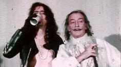 "Alice Cooper with Salvador Dali, 1973, by Bob Gruen. ""Surrealism"" is right."