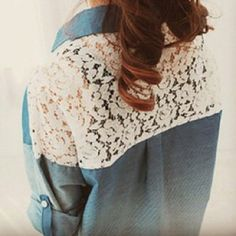 lace and denim! <3