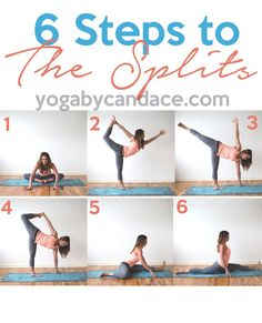 Pin now, practice later - how to do splits. Wearing: Beyond Yoga pants, sweaty betty tank (similar on sale). Using: Yoga Design Lab mat