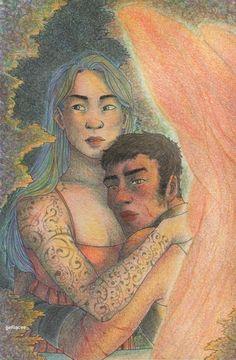 Daughter Of Smoke And Bone, Art Blog, Devil, Bones, Angel, Fall, Artwork, Painting, Autumn