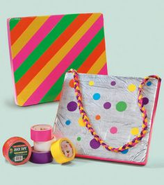 """Colorful Sit Upons: all about fun : Shop Joann.com--We made sit upons in Girl Scouts back in """"the day""""--these are made from duct tape--think I've found my new seats for my circle time in my classroom!  Also a version made from vinyl table cloth and taped around the edges---"""