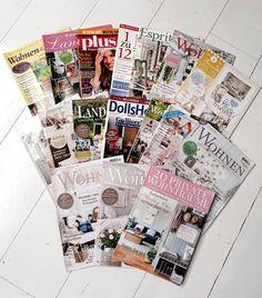 Wohnreportagen in 17 Magazinen Herzlichen Dank! Photo Wall, Shabby, Photo And Video, Frame, Instagram, Give Thanks, Homes, Fotografie, Frames