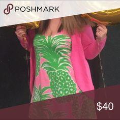 Pineapple tank dress Beautiful dress. Slight pulling. Price reflects wear. Lilly Pulitzer Dresses